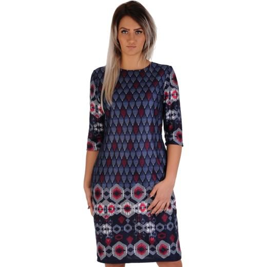 4357ec6e6d Sukienka Lamar z okrągłym dekoltem w Domodi