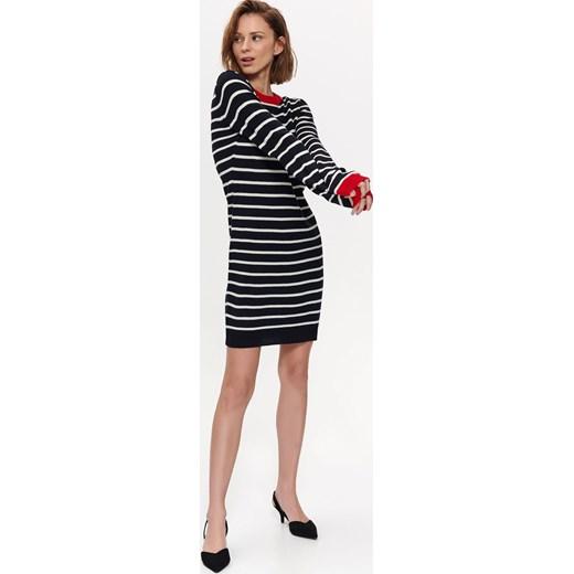 c064a18f00122d Sukienka Top Secret midi z długimi rękawami dopasowana na co dzień w ...