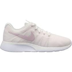 9761d209 Buty sportowe damskie Nike do biegania tanjun bez wzorów na koturnie beżowe  wiązane