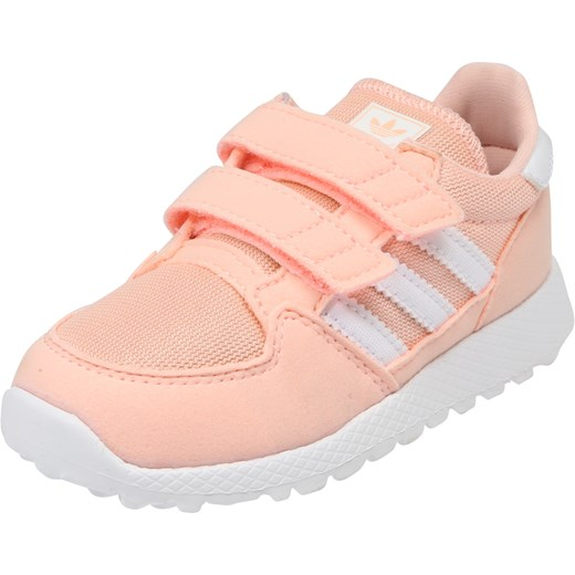 9f355025f2087 Buty sportowe dziecięce Adidas Originals na rzepy bez wzorów różowe ...
