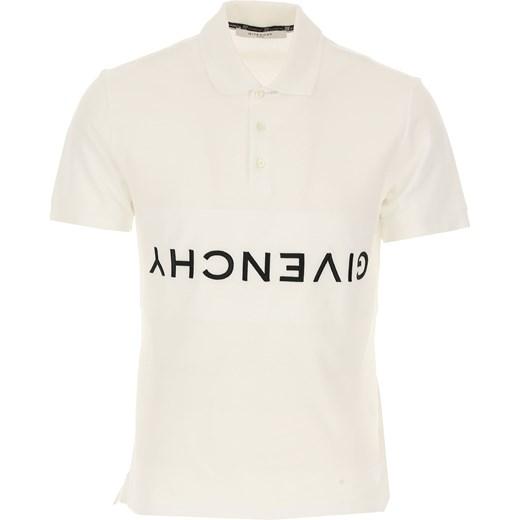 Wspaniały Givenchy t-shirt męski biały w Domodi MU82