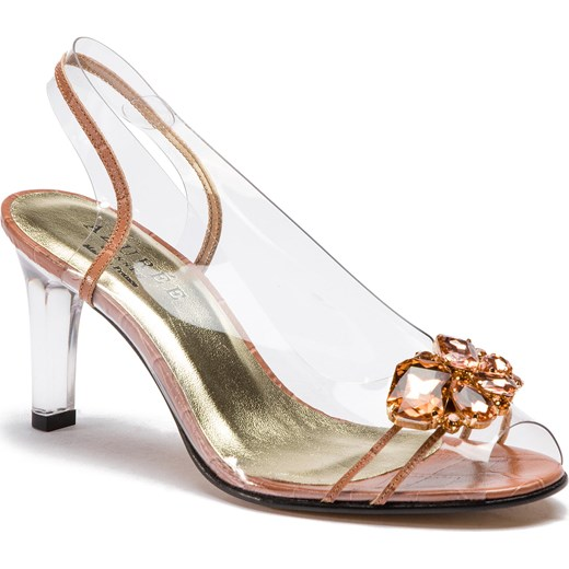 Sandały damskie Azurée różowe ze skóry ekologicznej Buty Damskie VS różowy Sandały damskie VPPK
