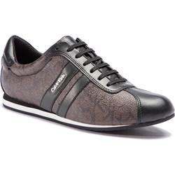 1fd804baffe51 Buty sportowe damskie Calvin Klein sneakersy casual bez wzorów sznurowane  na koturnie ...