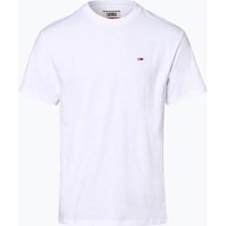 616a96f8824bc T-shirt męski biały Tommy Jeans z krótkim rękawem