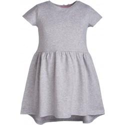 5f5549ca03 Szare sukienki dziewczęce z krótkim rękawem decodada