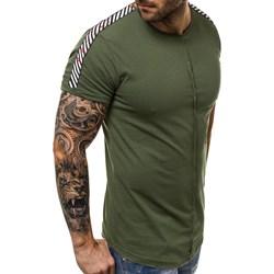 04676c7e430d T-shirt męski zielony Ozonee.pl