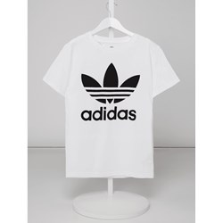 83fa0d3ec Bluzka dziewczęca biała Adidas Originals z krótkim rękawem
