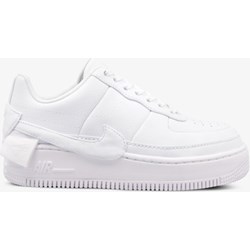 Buty sportowe damskie białe Nike sneakersy air force gładkie wiązane na koturnie