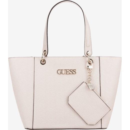 b7469e706d383 ... Shopper bag Guess z poliestru z breloczkiem elegancka matowa mieszcząca  a8