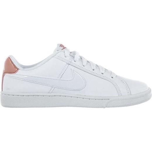 cbdbd7d1 Białe trampki damskie Nike court z niską cholewką bez wzorów sportowe  sznurowane w Domodi