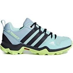 eea3de33 Buty trekkingowe damskie Adidas sznurowane sportowe na płaskiej podeszwie  bez wzorów