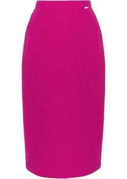 Spódnica klasyczna amarantowa Sarex  Sarex-moda - kod rabatowy