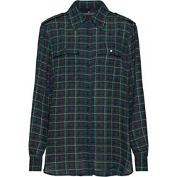 a8226a4103dd7b Koszula damska zielona Designers Remix w kratkę z długim rękawem z  kołnierzykiem