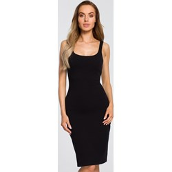 b523ab7768 Sukienka czarna Moe elegancka midi na ramiączkach gładka