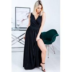 7ac5a3c3b1 Sukienka czarna bez rękawów maxi