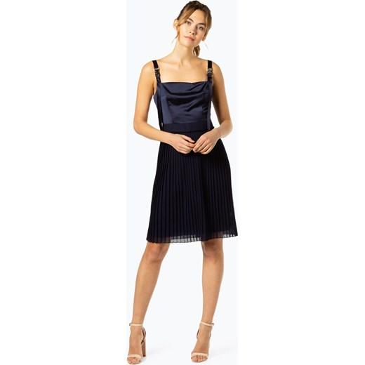 797636c0202ac Granatowa sukienka Hugo Boss elegancka na spotkanie biznesowe w Domodi