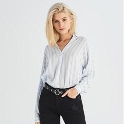 Bardzo dobryFantastyczny Białe bluzki koszulowe damskie, lato 2019 w Domodi OC43