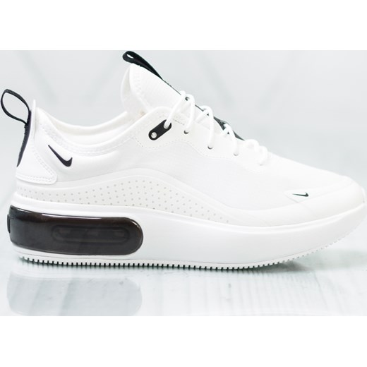 Buty sportowe damskie Nike do biegania białe gładkie sznurowane wiosenne