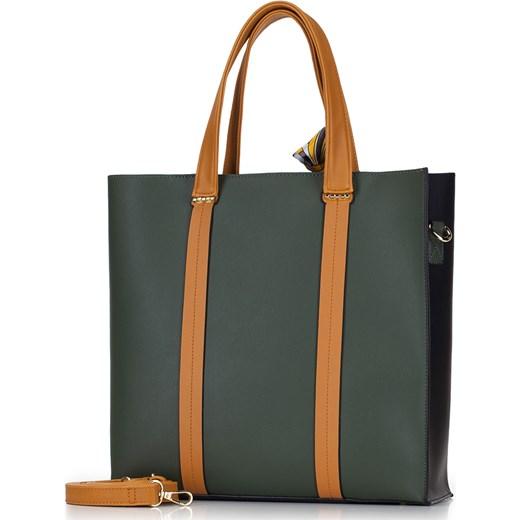 375b34c6518b3 Shopper bag Wittchen na ramię duża  Wittchen shopper bag z kokardką duża  elegancka ...