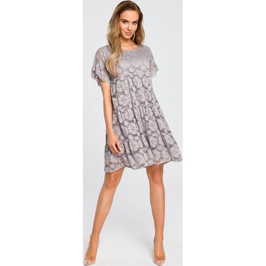 cfc24c9aa7 Sukienka Moe mini koronkowa z okrągłym dekoltem casual w Domodi