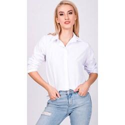 6605f27ff456 Koszula damska Zoio biała z długim rękawem z kołnierzykiem