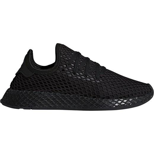 Buty sportowe damskie Adidas do biegania czarne gładkie sznurowane