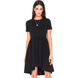 3f2511a628 Makadamia sukienka asymetryczna z krótkim rękawem