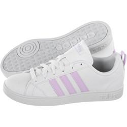 e64251ff64acb Trampki damskie Adidas advantage bez wzorów białe sznurowane płaskie z  niską cholewką ze skóry ekologicznej