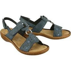 9b24a277 Niebieskie sandały damskie na obcasie, lato 2019 w Domodi