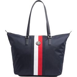 643e18b6679f Shopper bag Tommy Hilfiger na ramię duża młodzieżowa