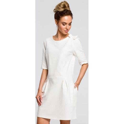 cf3a884580 Sukienka Moe z krótkim rękawem z okrągłym dekoltem mini na co dzień ...