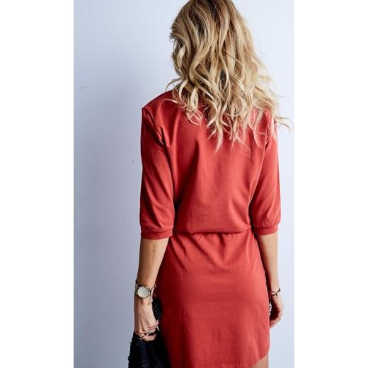 36d84b6fac ... Sukienka bawełniana z zameczkiem przy dekolcie pomarańczowa Yups M ...