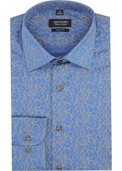 koszula versone 2865 długi rękaw slim fit niebieski  Recman  - kod rabatowy