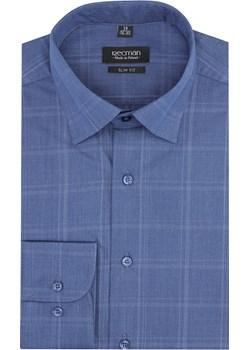 koszula versone 2862 długi rękaw slim fit niebieski Recman   - kod rabatowy
