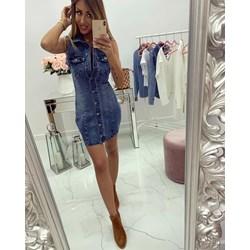 795417d71e Sukienka z dekoltem w literę v jeansowa mini casual
