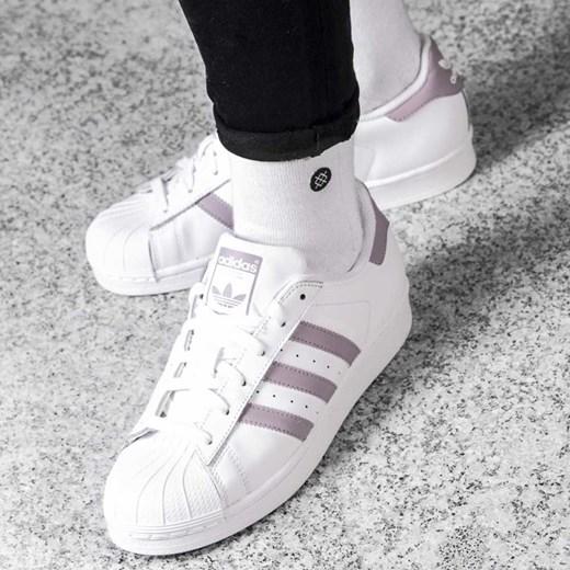 piękny Trampki damskie Adidas superstar białe gładkie