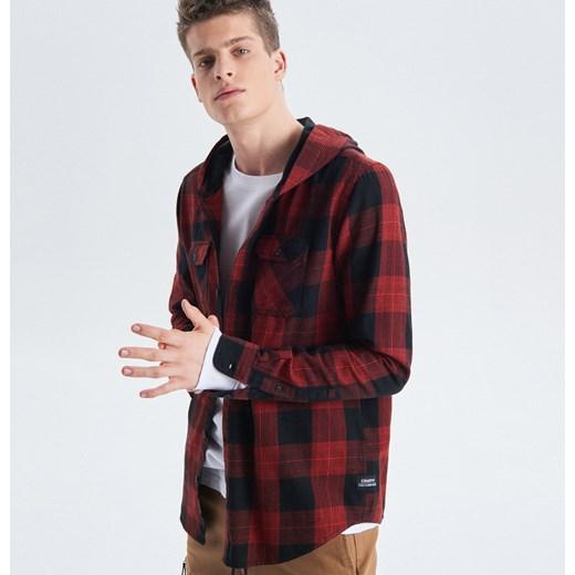 a6ded8067 Cropp - Koszula w kratę z kapturem - Czerwony Cropp M ...