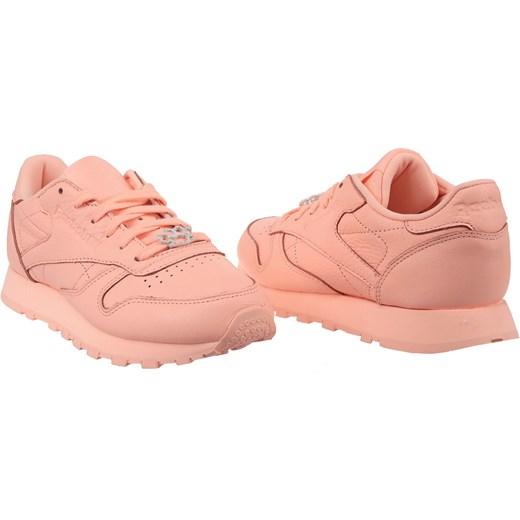 Buty sportowe damskie Reebok sneakersy różowe sznurowane na koturnie gładkie