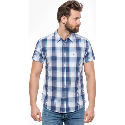 ZMNIEJSZONE O 50% Koszula męska Wrangler casual z krótkim  7NAoH