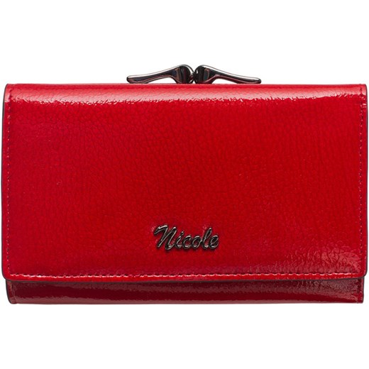 956757cf67c90 Portfel damski skórzany NICOLE czerwony Nicole uniwersalny