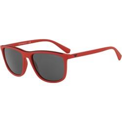 ce217b50a456 Czerwone okulary przeciwsłoneczne męskie emporio armani