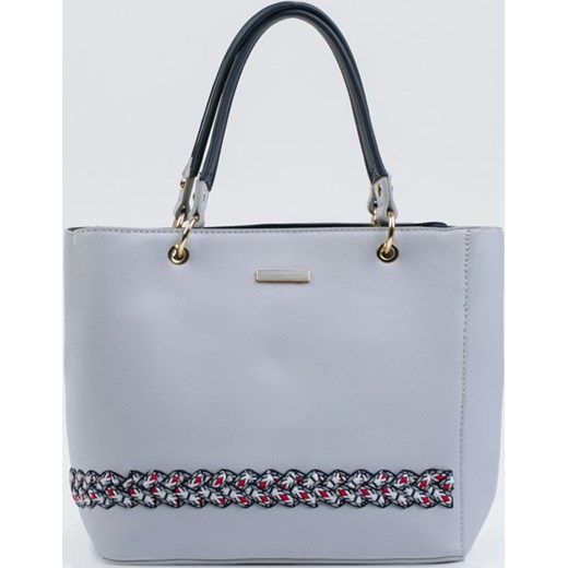 4a024e5d2216d Shopper bag Monnari ze skóry ekologicznej duża bez dodatków  Shopper bag  niebieska ...