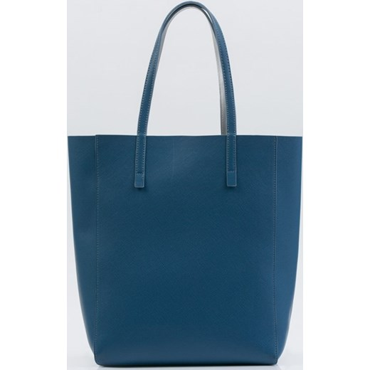 822eaecb04e29 ... bez dodatków ze skóry ekologicznej duża  Shopper bag niebieska Monnari  elegancka matowa ze skóry ekologicznej na ramię ...