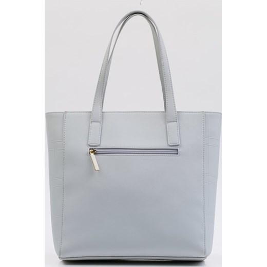 40d5b673f60d5 Shopper bag Monnari szara bez dodatków mieszcząca a7 w Domodi