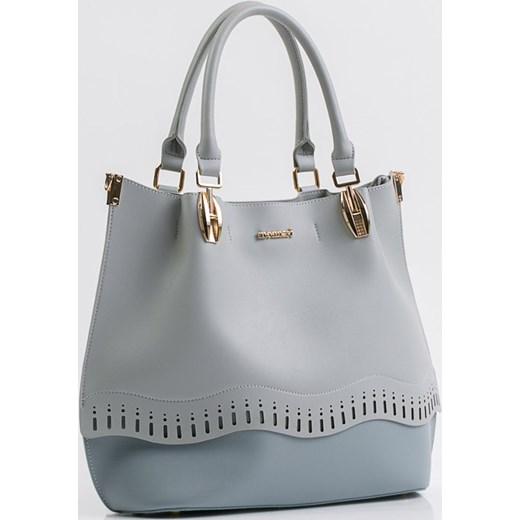 34feb23ded48d Niebieska shopper bag Monnari bez dodatków elegancka w Domodi