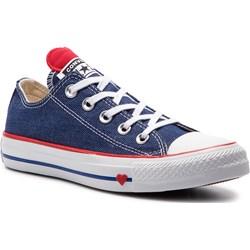 a1bcc0ce0df93 Trampki damskie niebieskie Converse all star z niską cholewką sznurowane na  płaskiej podeszwie ...