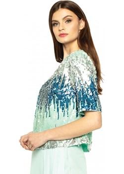 Cekinowa bluzka L'AF LOA L'af mietowy Eye For Fashion - kod rabatowy