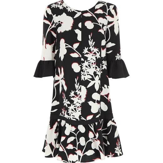 5458d87aa1 Sukienka Liu•jo na sylwestra w kwiaty midi z długim rękawem z poliestru ...