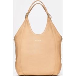 7e4f8c8972ba1 Shopper bag Kazar na ramię matowa brązowa bez dodatków casualowa