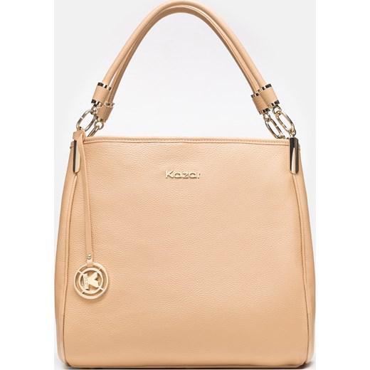 92879c47146f2 Shopper bag Kazar bez dodatków matowa mieszcząca a8 na ramię w Domodi